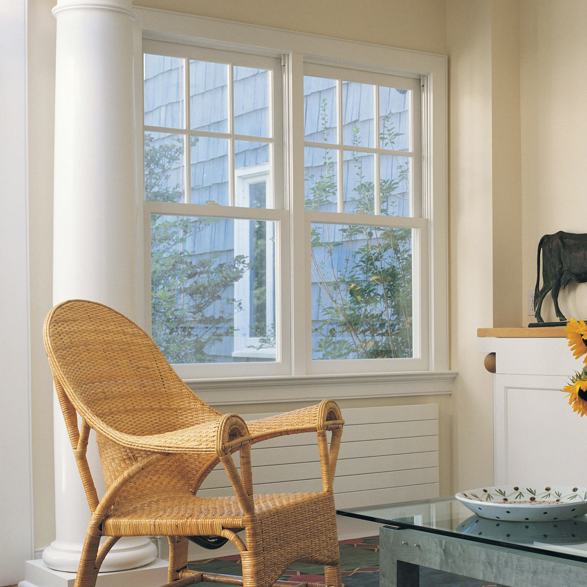 Interior View Of Room With Signature Tilt Pac Double Hung Sash Replacement System