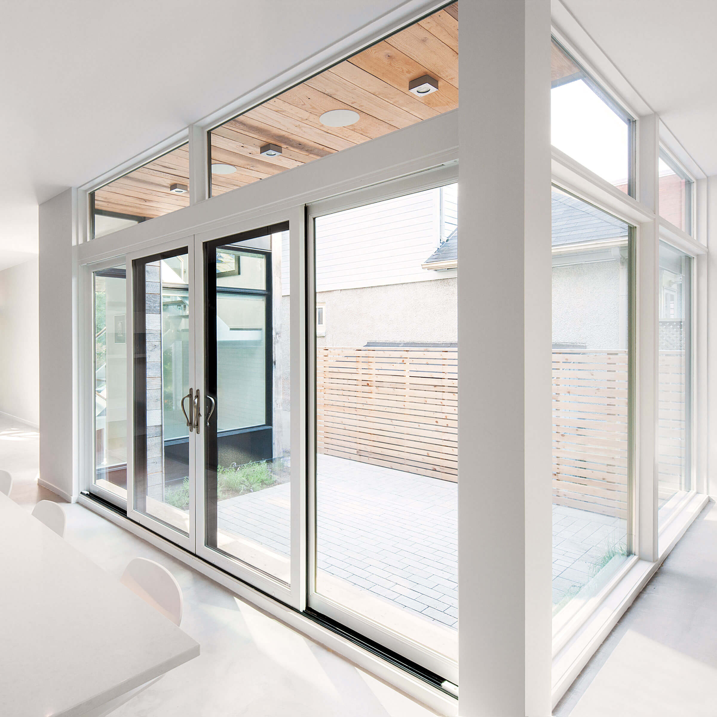 White Kitchen With Signature Ultimate Sliding Patio Door