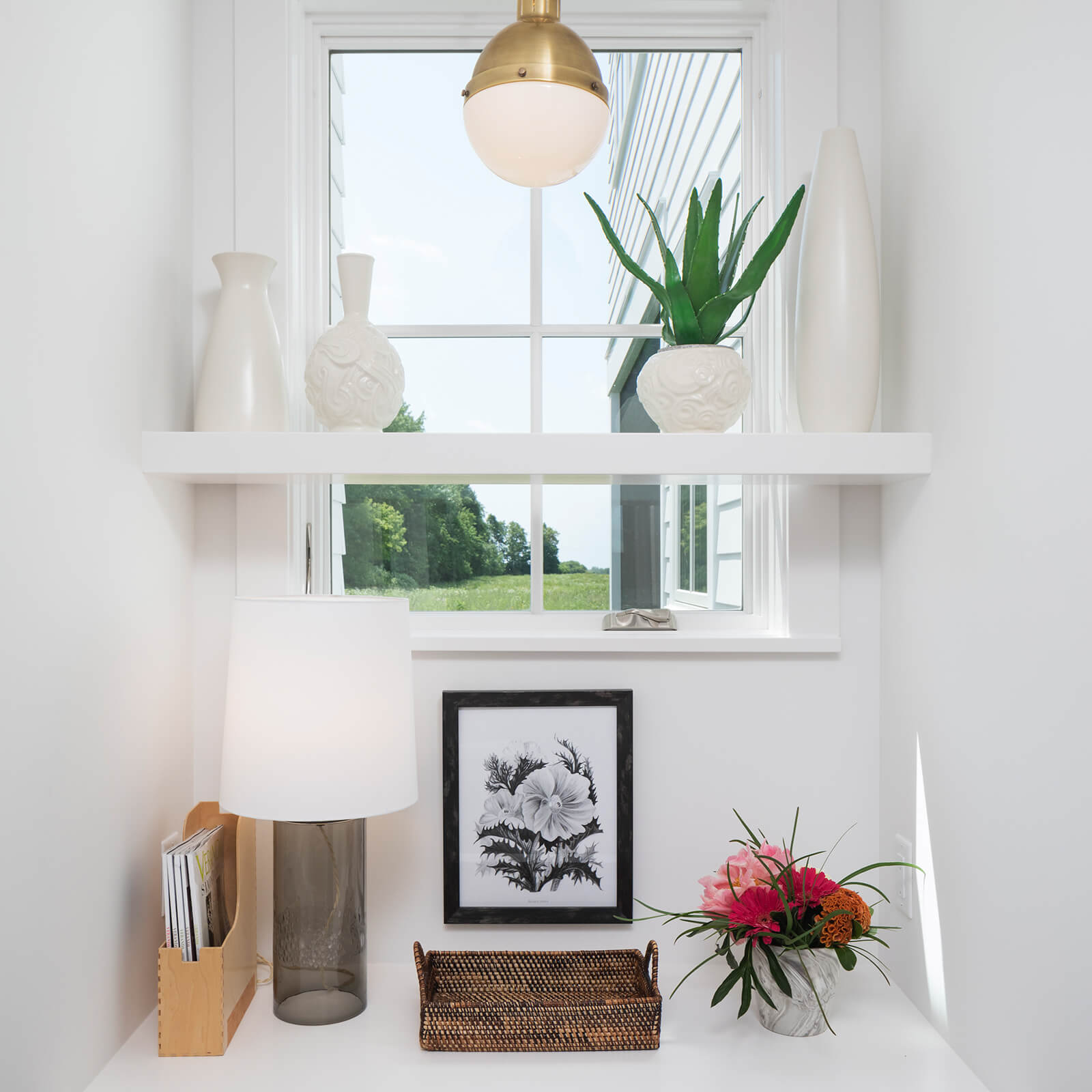 Small desk area with Marvin Elevate Casement Window