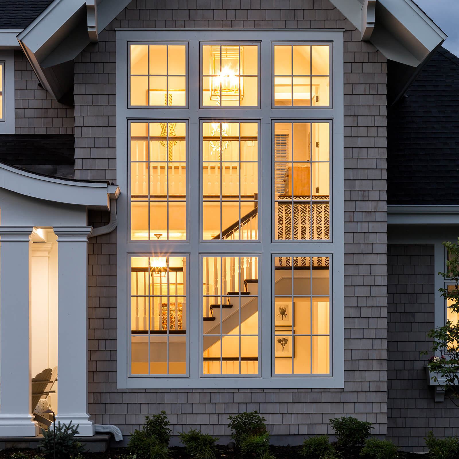 Exterior view of multiple Marvin Elevate Casement Windows and Elevate Picture Windows