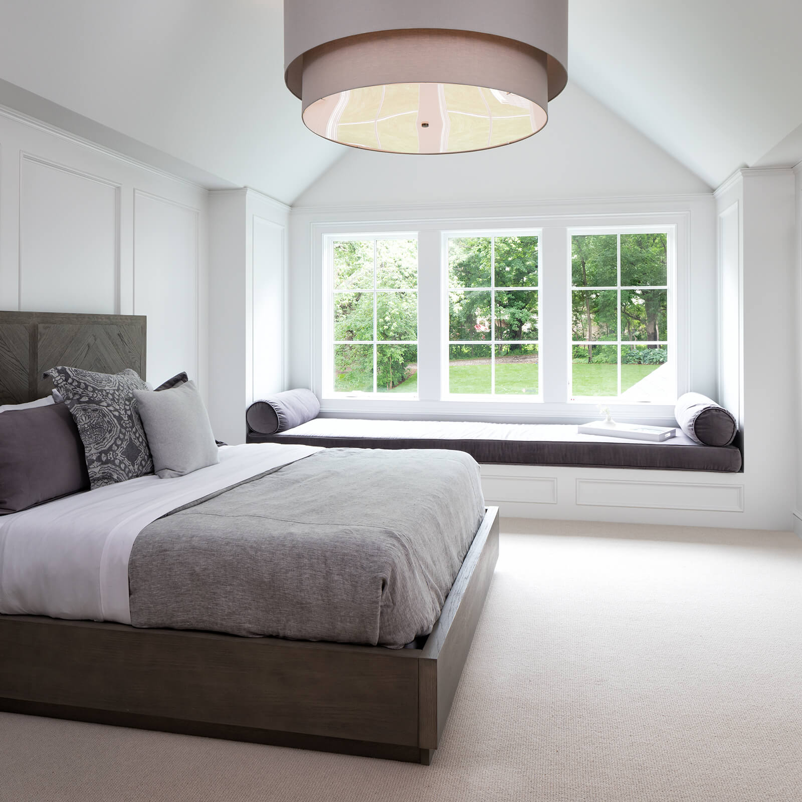 Large bedroom with Marvin Elevate Casement Windows