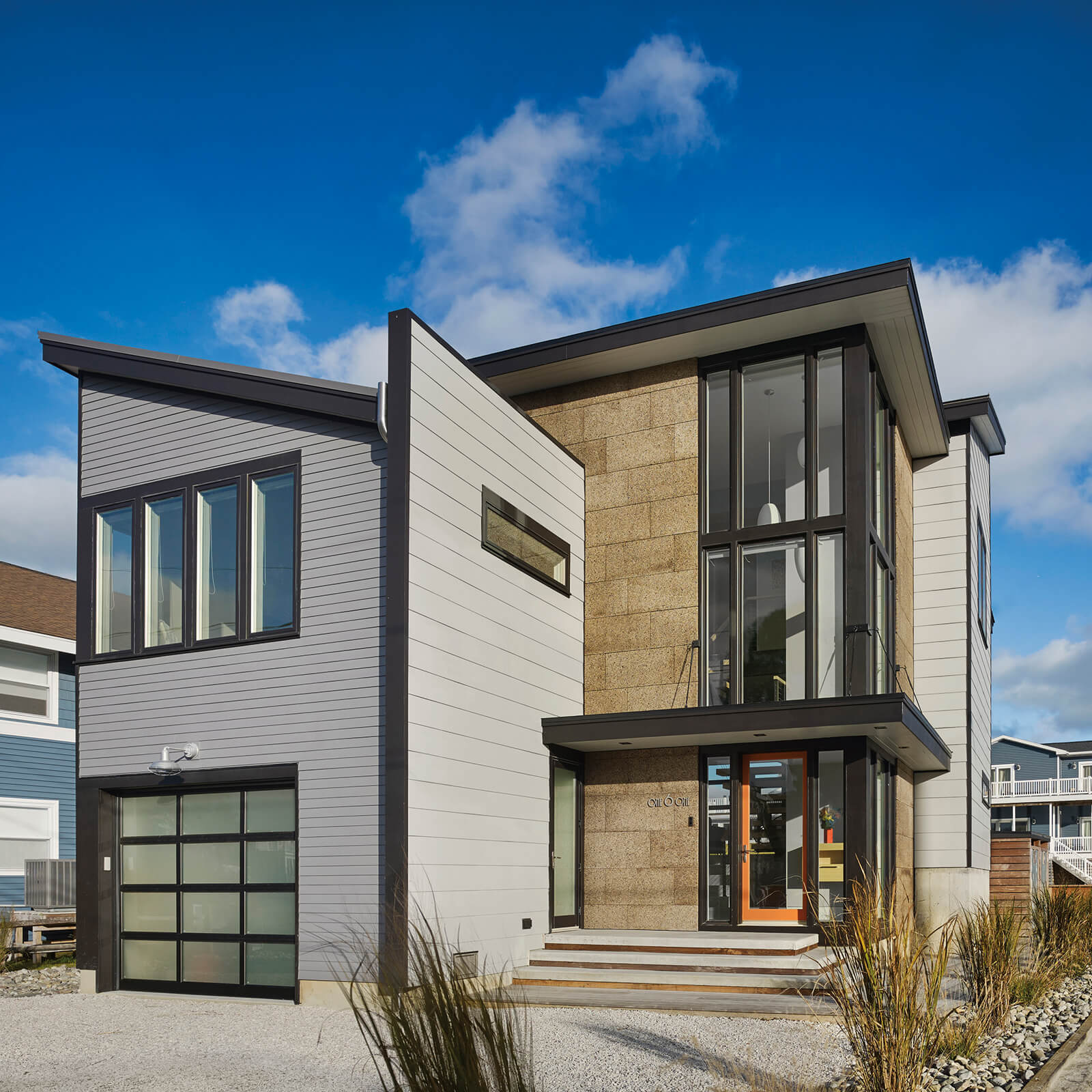 Contemporary modern style home with Marvin Elevate Casement Windows