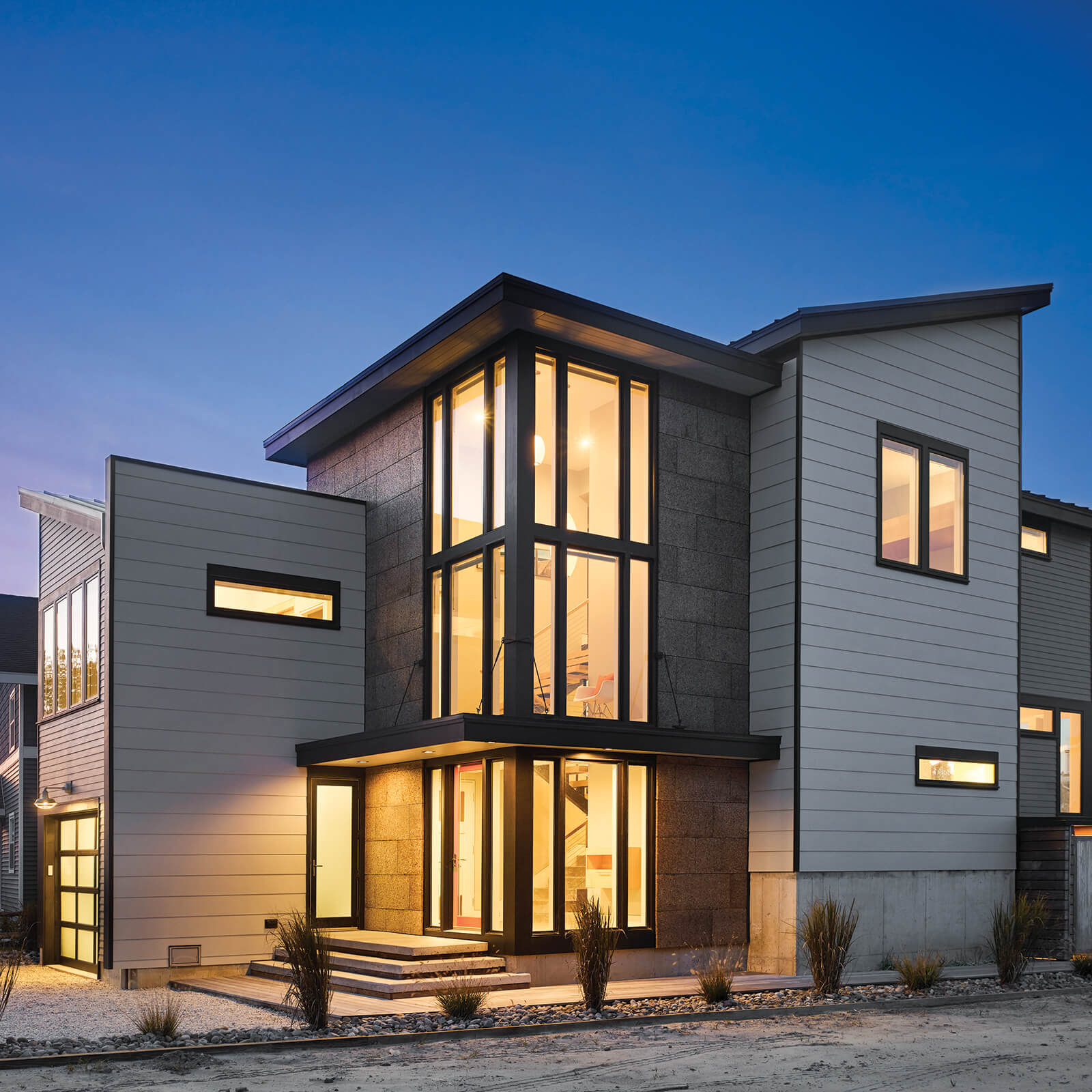 Contemporary modern style home with Marvin Elevate Outswing French Door and Elevate Casement Windows
