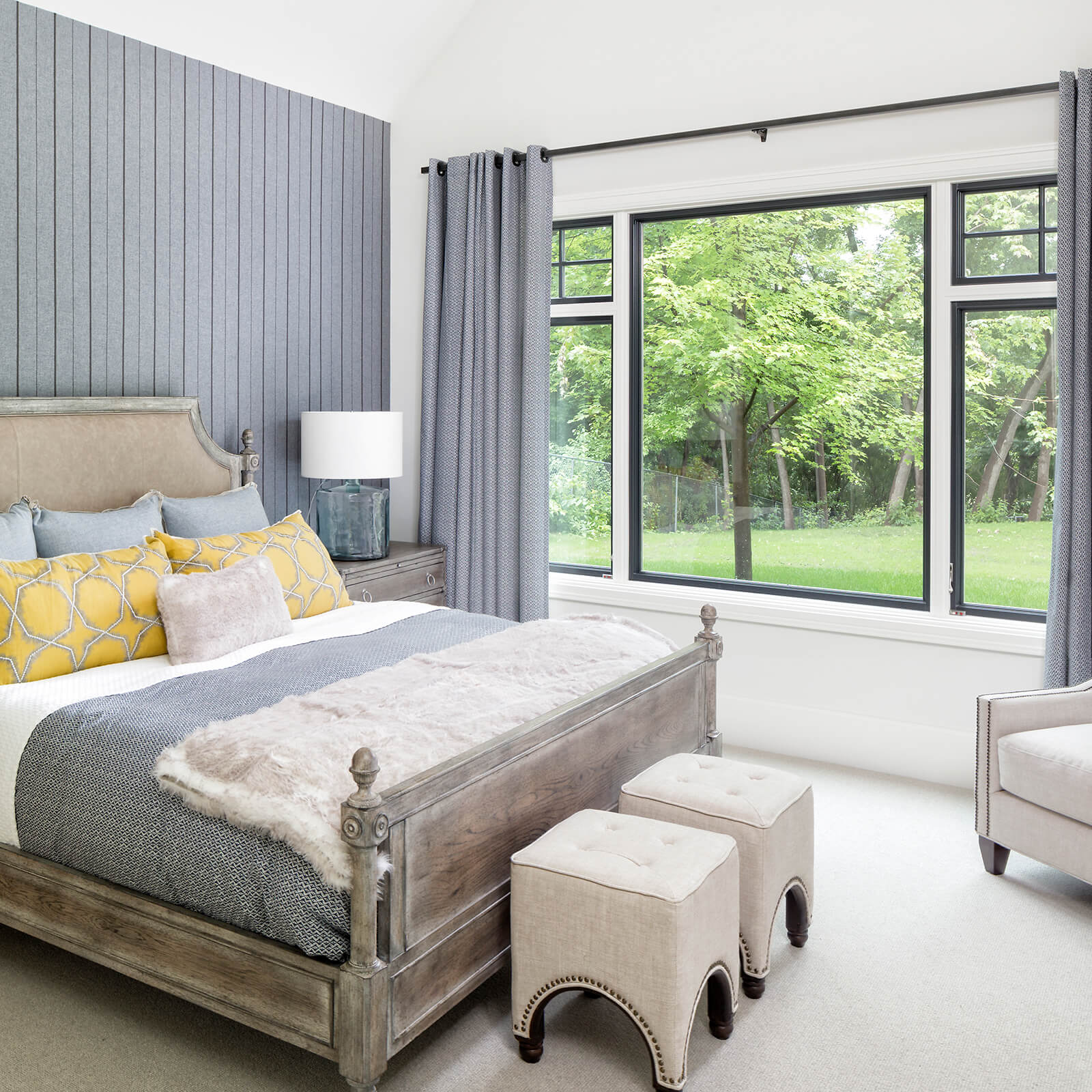 Bedroom with Marvin Signature Ultimate Casement Windows