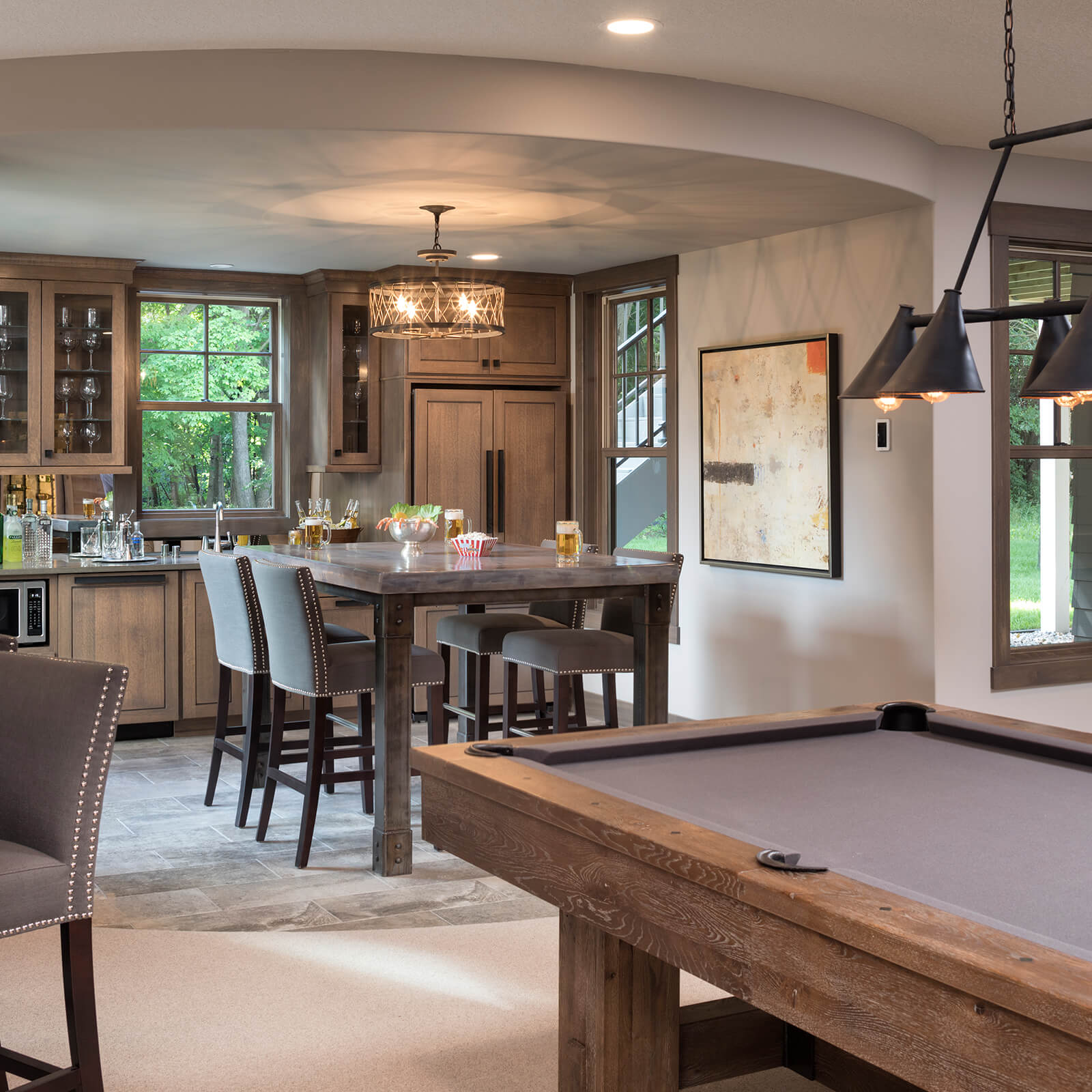 Large open concept kitchen with Marvin Elevate Double Hung Windows