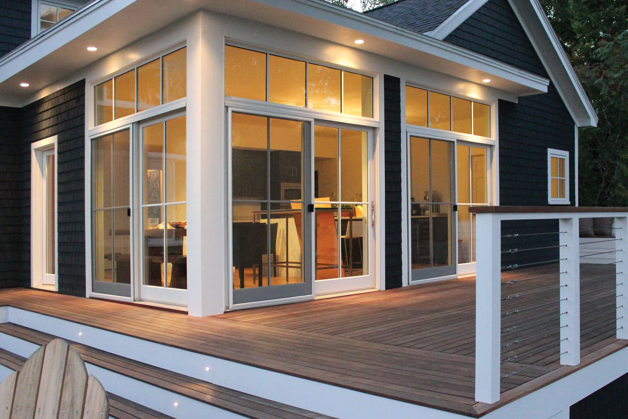 Lakehouse Deck With A Marvin Elevate Sliding French Door
