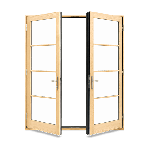 Elevate Inswing French Door Open Interior View