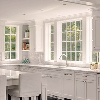 Kitchen With Marvin Windows From Elevate Collection With Divided Lites