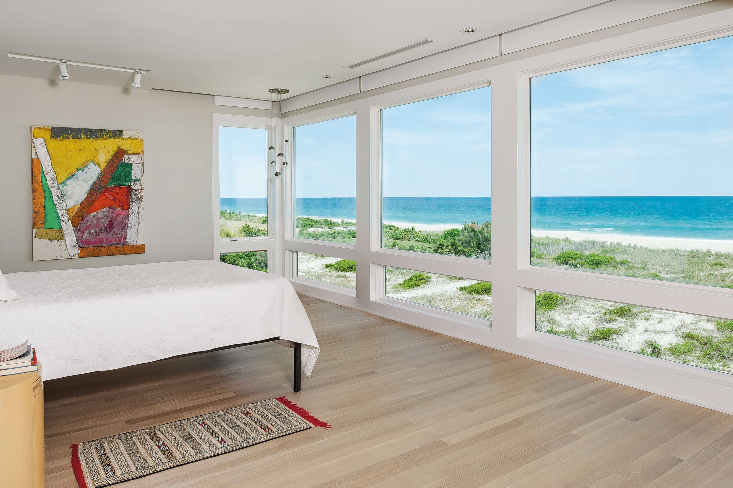 Coastal View From Bedroom With Marvin Elevate Casement Picture Windows