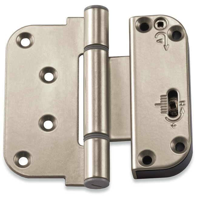 Satin Nickel Adjustable Hinge