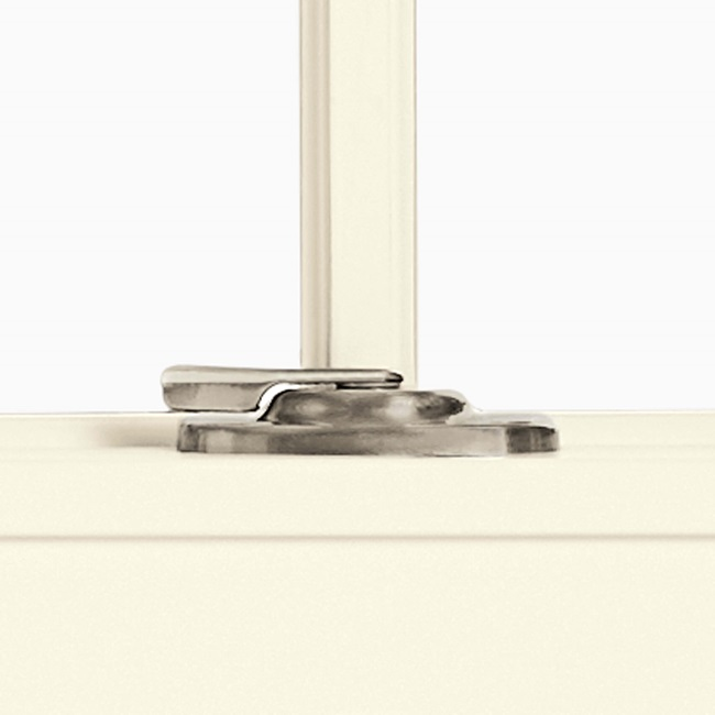 Satin Nickel Sash Lock On Window