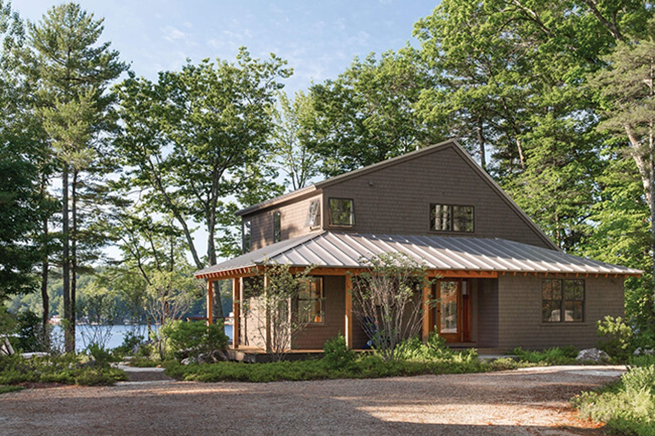 Lake House with Marvin Elevate Awning Windows