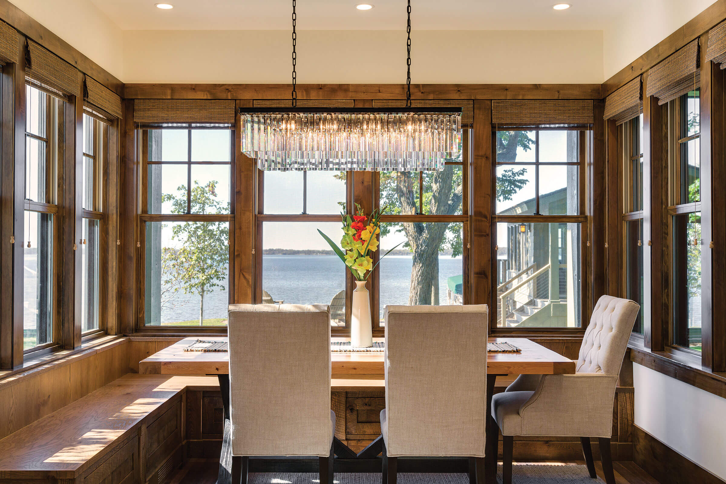 Dining Room With Marvin Elevate Double Hung Windows