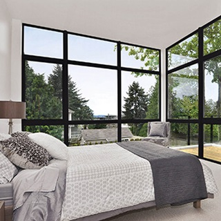 Bedroom With Essential Picture Windows