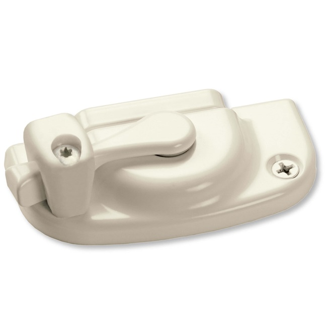 White Non Operable Sash Lock