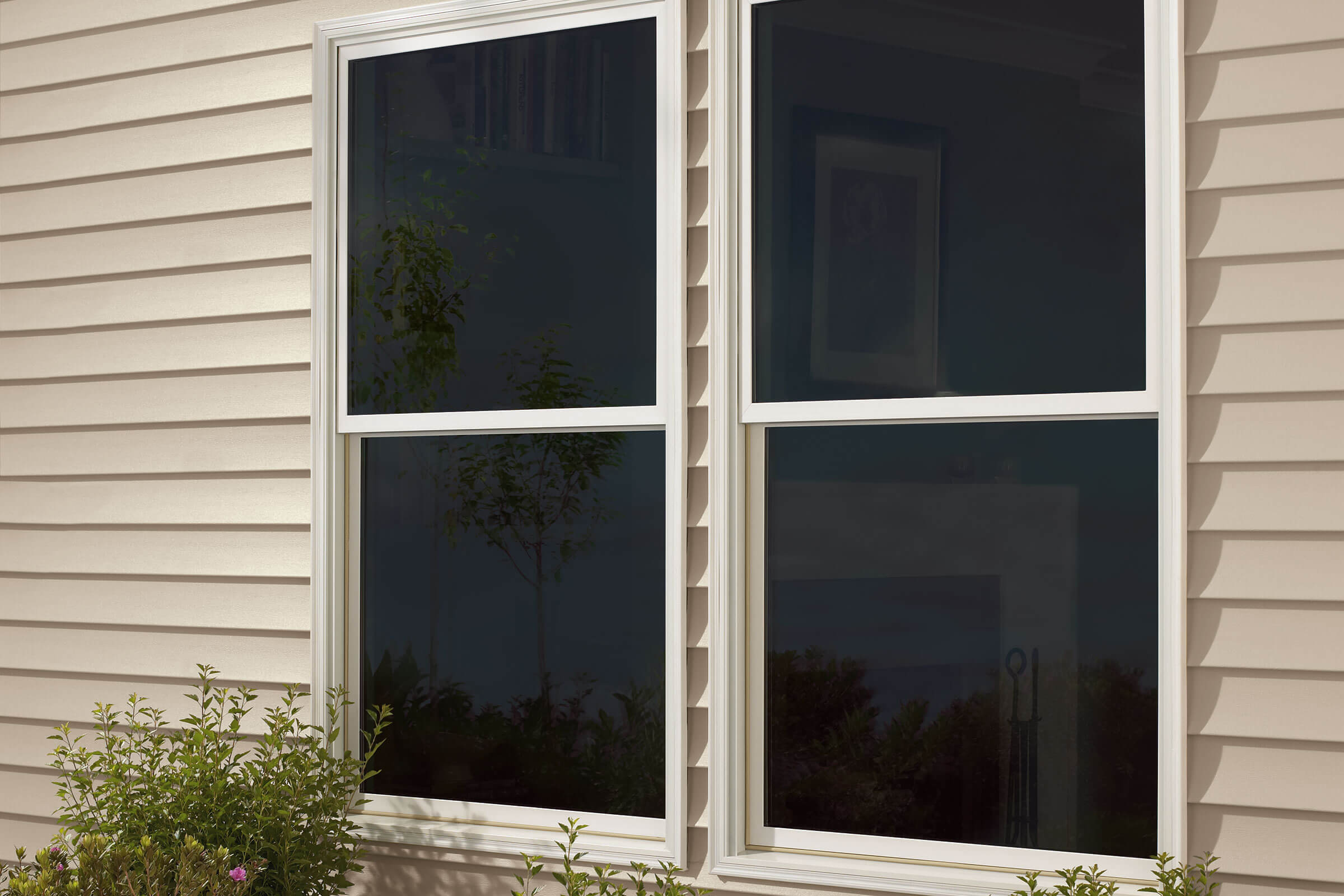 Exterior View Of Marvin Essential Single Hung Windows