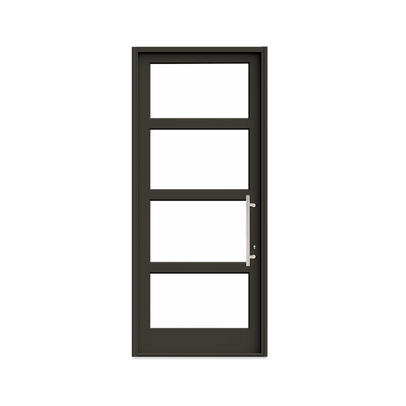 Interior product shot of the Marvin Signature Coastline Outswing French Entry Door with Bronze Finish