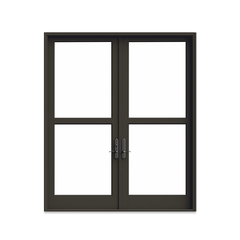 Interior product shot of Marvin Signature Coastline Outswing French Door with Bronze Finish