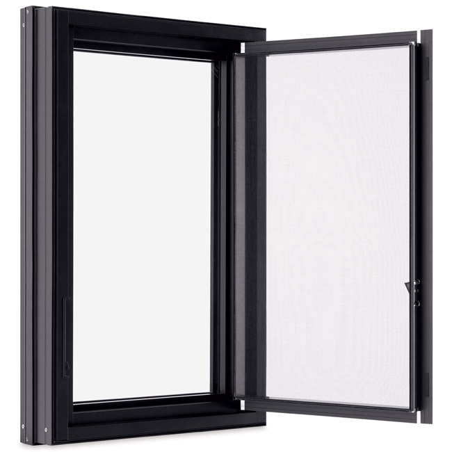 Casement Push Out Screen Ebony
