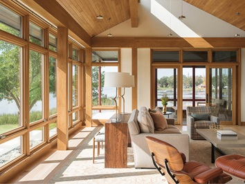 Large Living Room With Signature Ultimate Windows