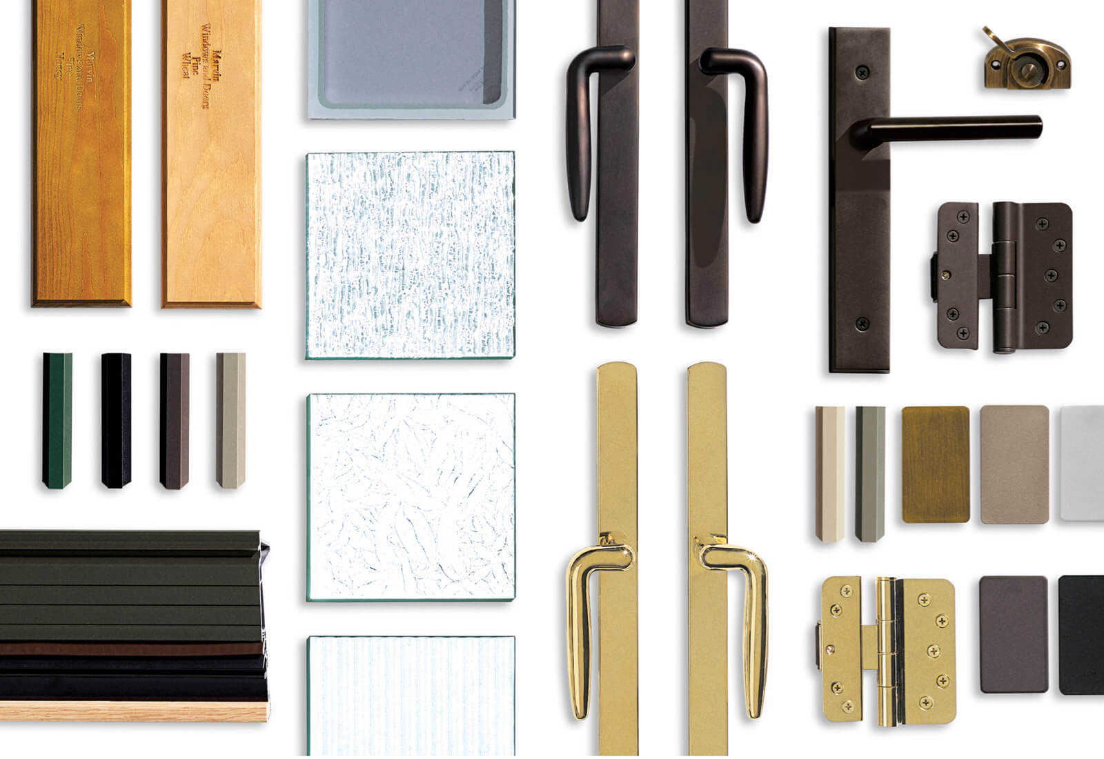 Sample Of Signature Ultimate Design Options Including Handles And Exterior Finish Colors