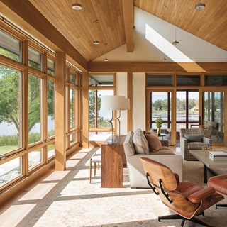 Large Living Room With Signature Ultimate Windows And Doors