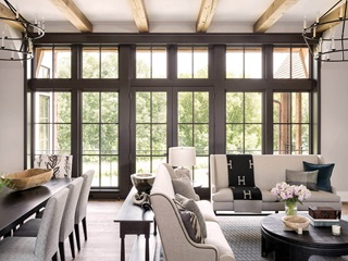 Large Living Room And Dining Room With Signature Ultimate Windows