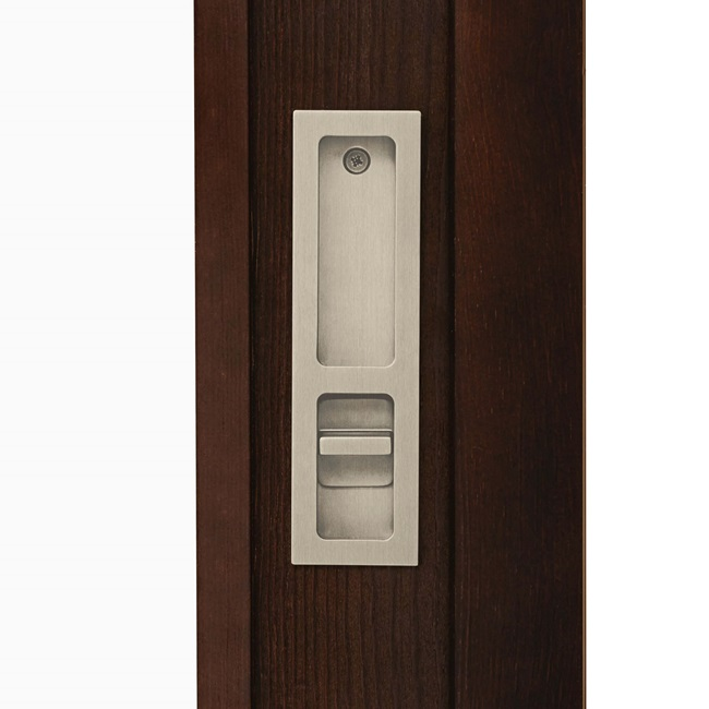 Interior Pull and Latch Hardware Satin Nickel PVD