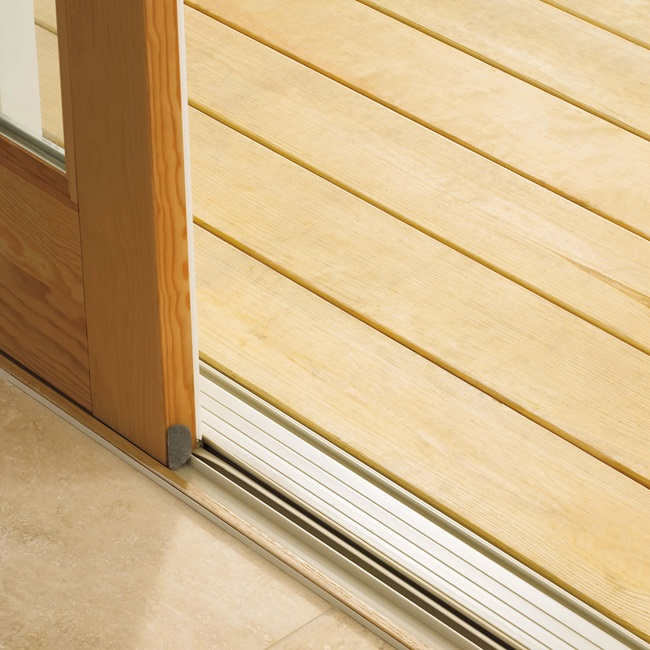 Sliding French Door Sill Low Profile Sill Close Up