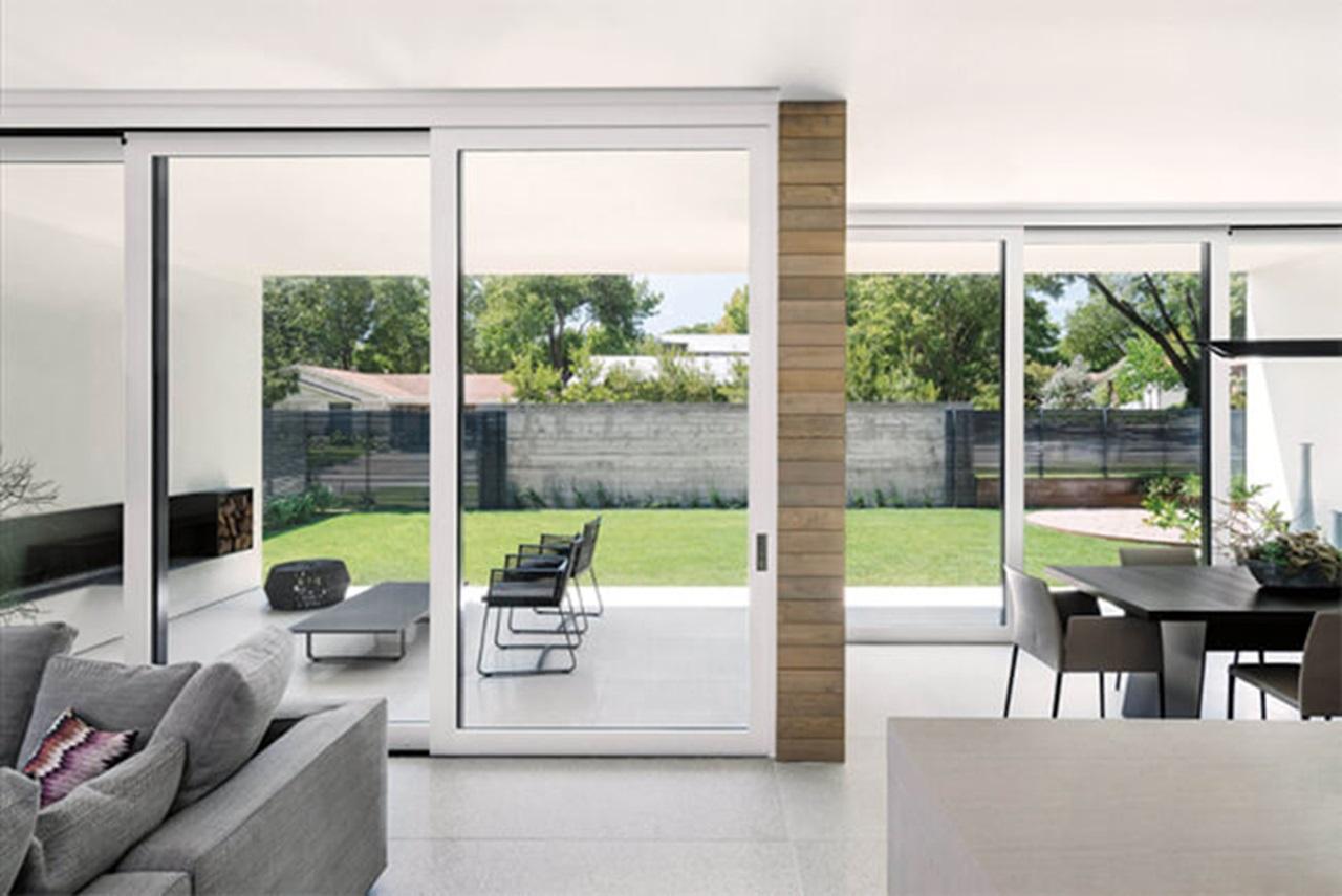 large sliding glass doors pocket or