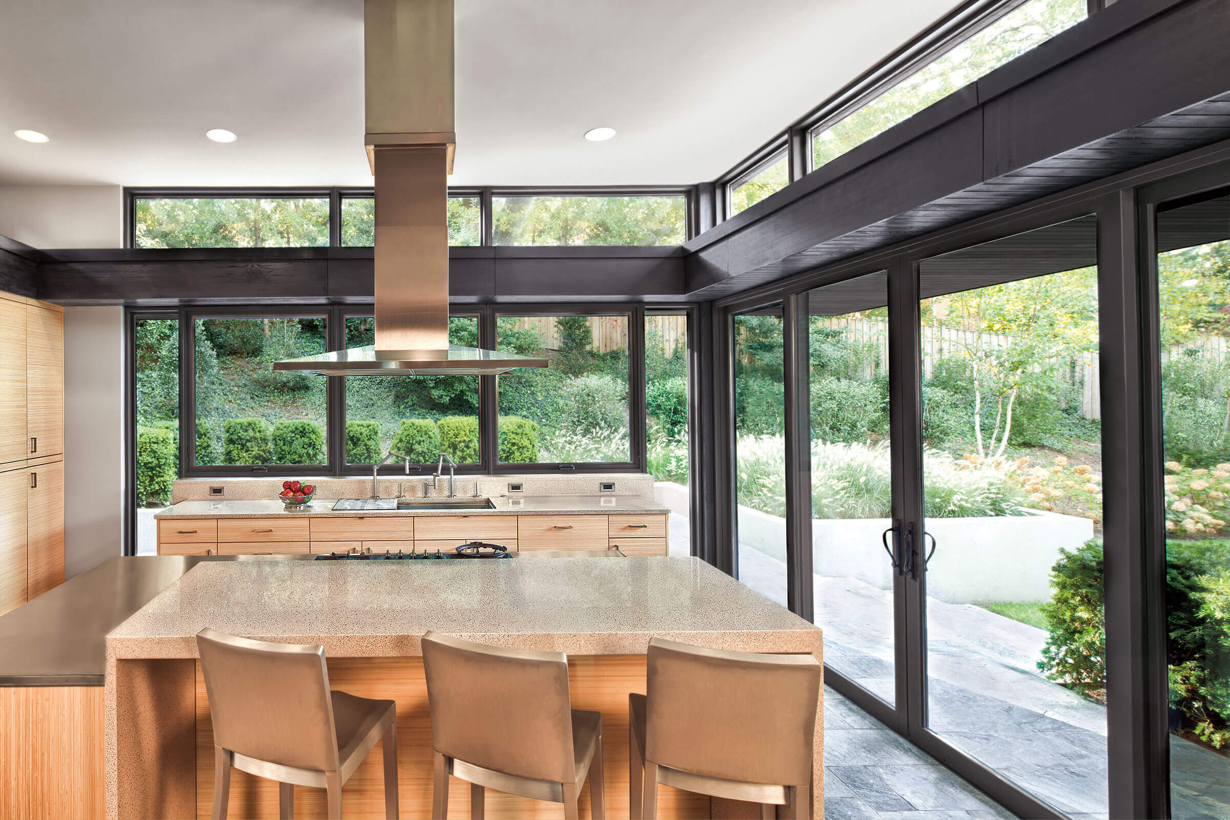 Large Kitchen With Signature Ultimate Sliding Patio Door