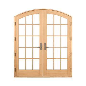 Signature Ultimate Inswing French Door Arch Top Interior View