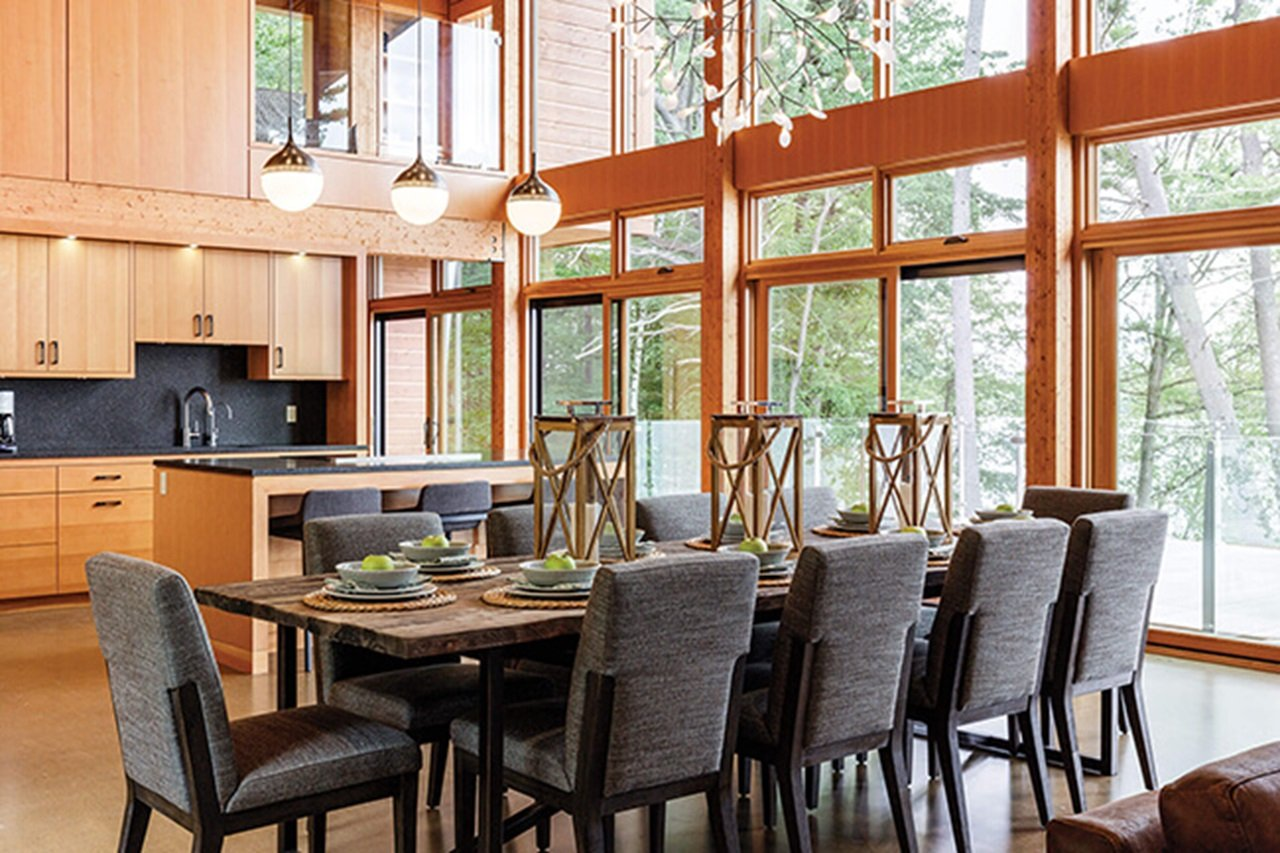 Large Dining Room And Kitchen With Signature Ultimate Awning Windows