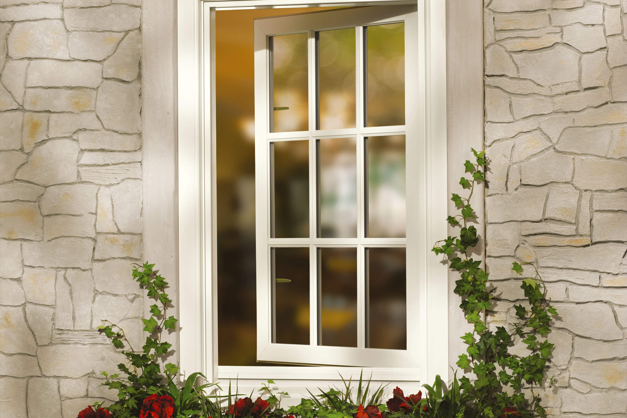 Exterior View of Open Signature Ultimate Casement Inswing Window