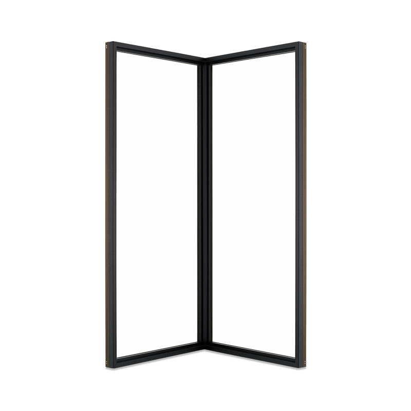 Signature Ultimate Corner Window Interior View In Designer Black