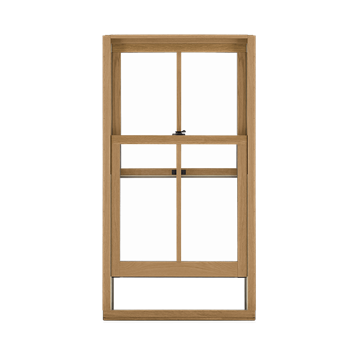Signature Ultimate Double Hung G2 Window Interior View Open In White Oak
