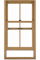 Signature Ultimate Double Hung G2 Window Interior View In White Oak