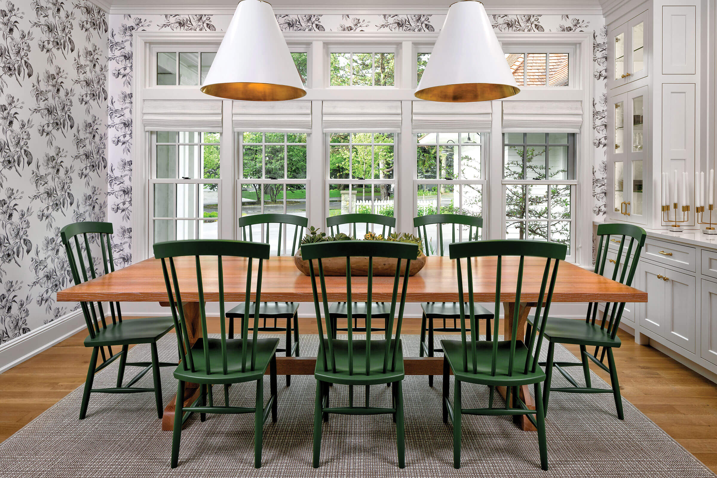 Dining Room With Signature Ultimate Double Hung Insert Windows