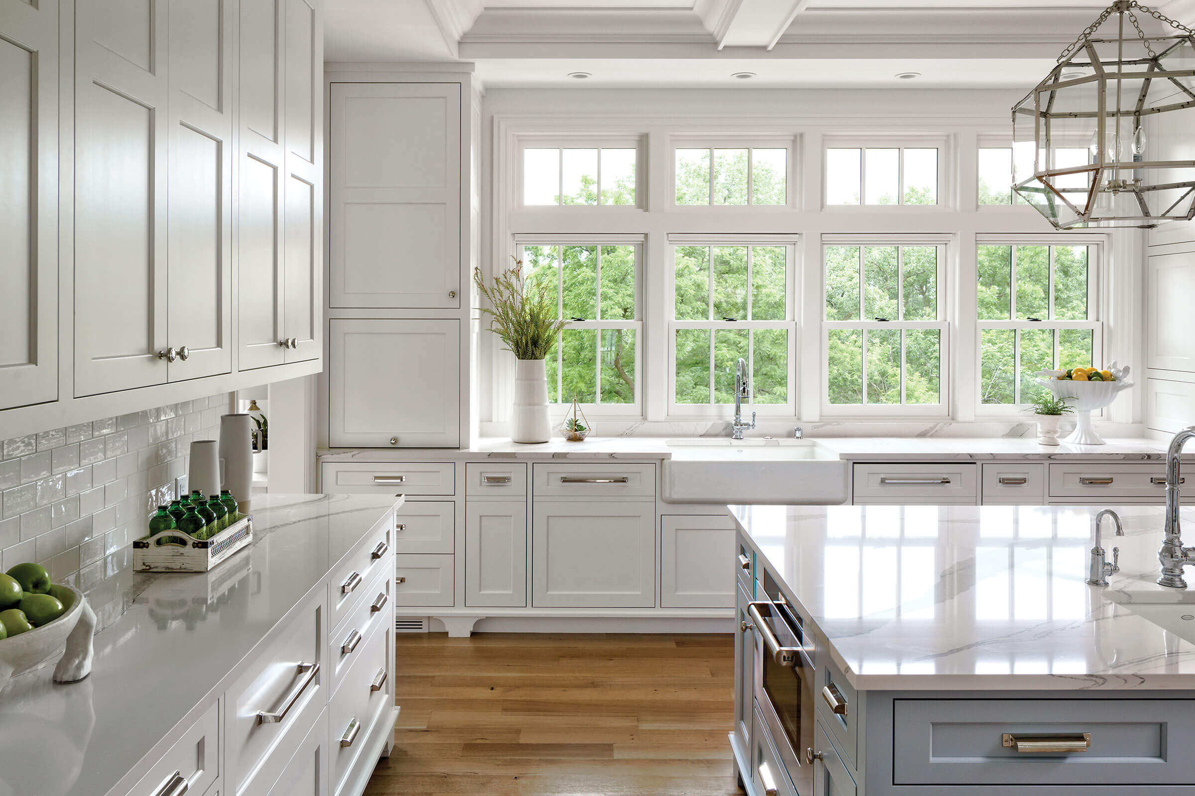 Large Kitchen With Signature Ultimate Double Hung Insert Windows