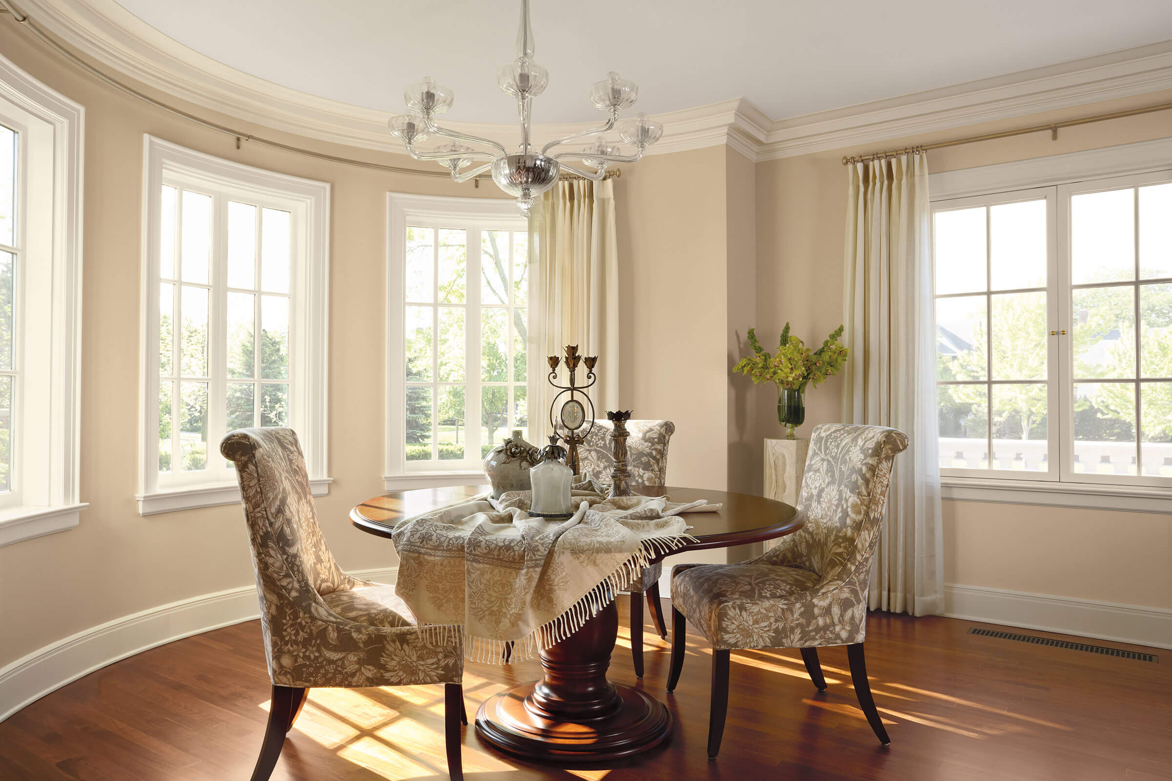 Dining Room With Signature Ultimate French Casement Push Out Windows