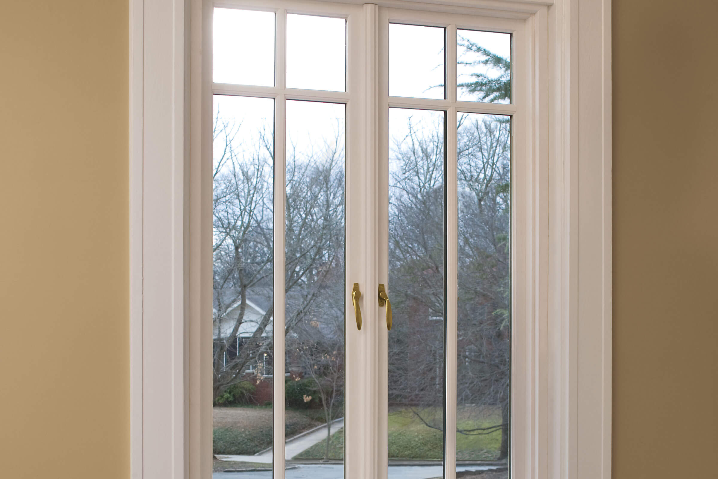 Interior View Of Signature Ultimate French Casement Push Out Window With Divided Lites