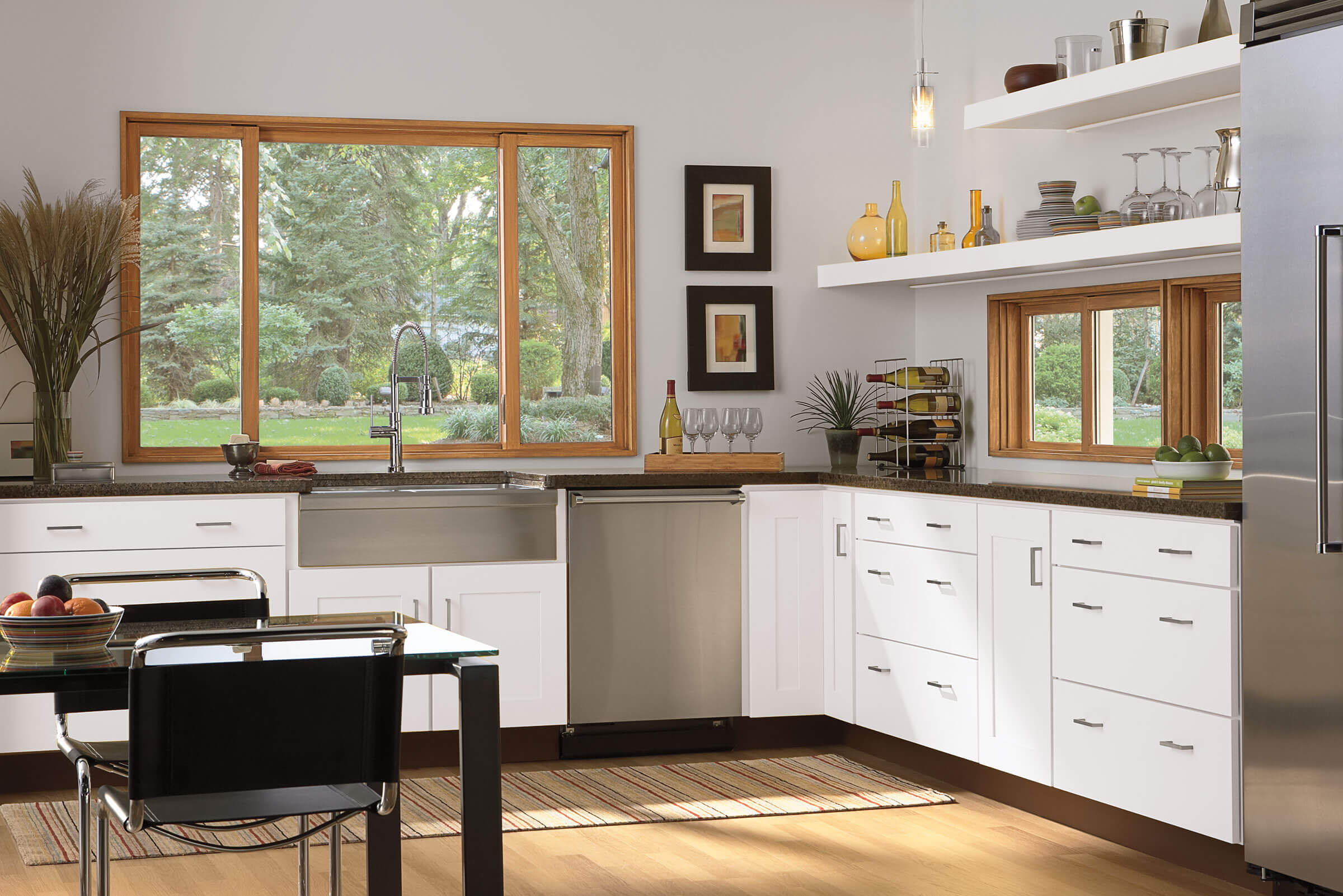 Kitchen With Signature Ultimate Glider Window