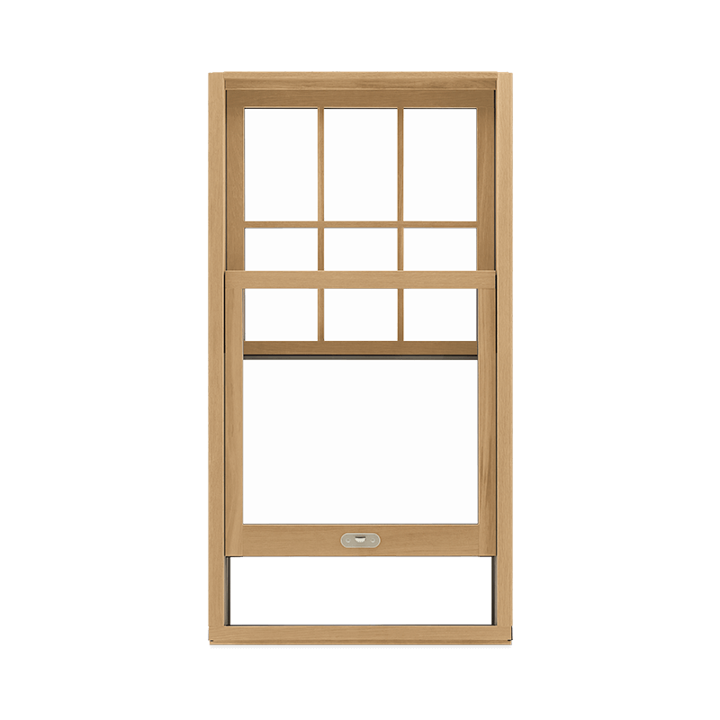 Signature Ultimate Single Hung G2 Window Interior View In White Oak