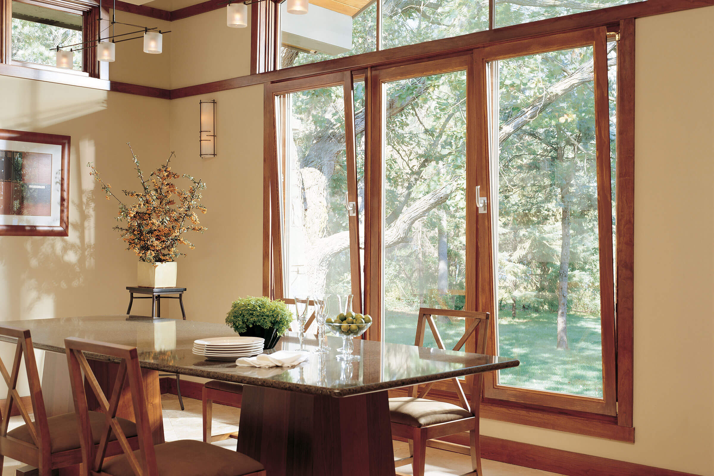 Dining Room With Large Signature Ultimate Tilt Turn Windows