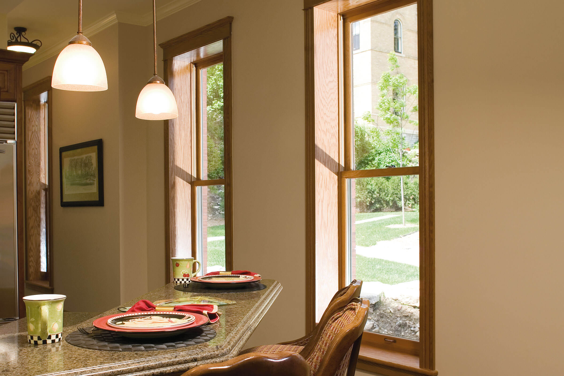 Interior View Of Signature Ultimate Wood Double Hung Magnum Windows