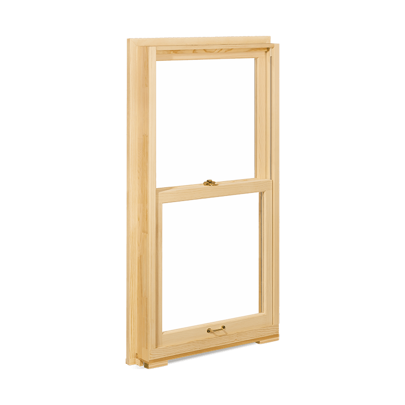 Signature Ultimate Wood Single Hung Interior View In Pine