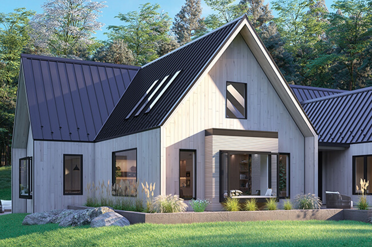 Exterior of home with Marvin Awaken Skylights