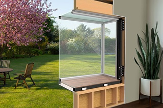 Backyard view of Marvin Skycove projected glass window structure