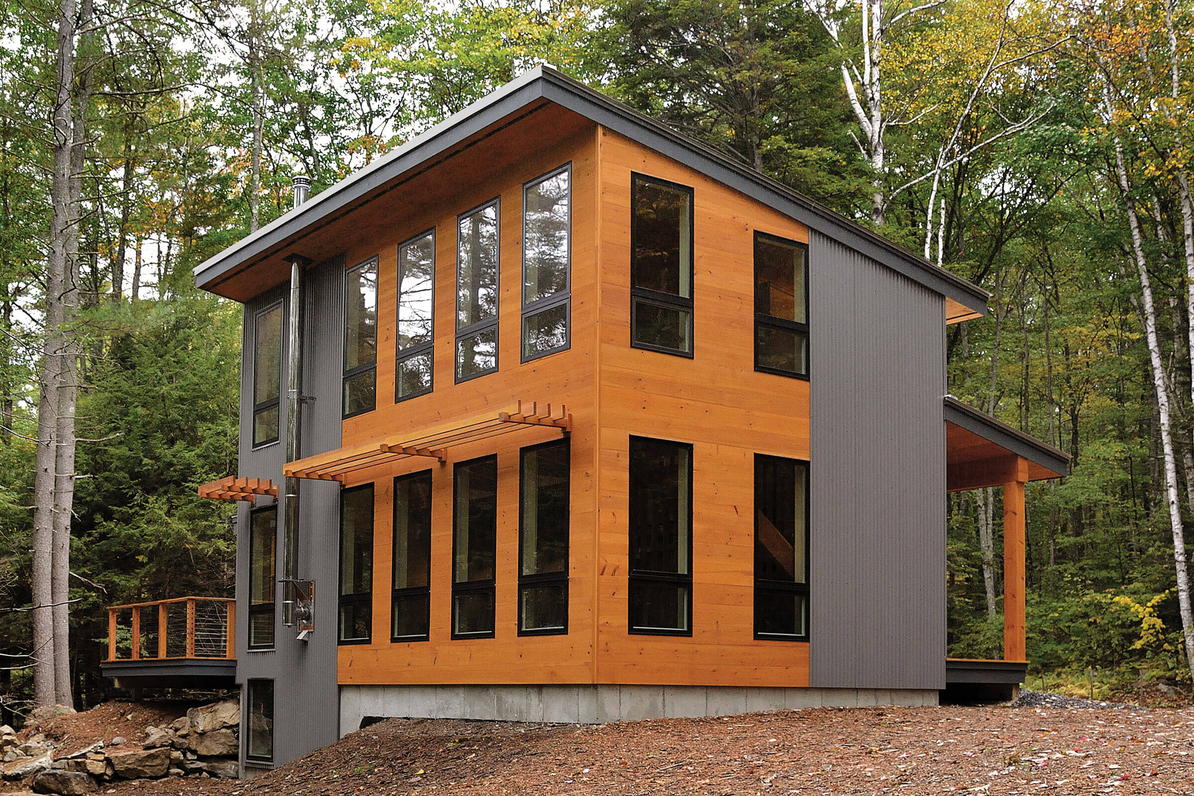 Contemporary Cabin With Marvin Essential Windows