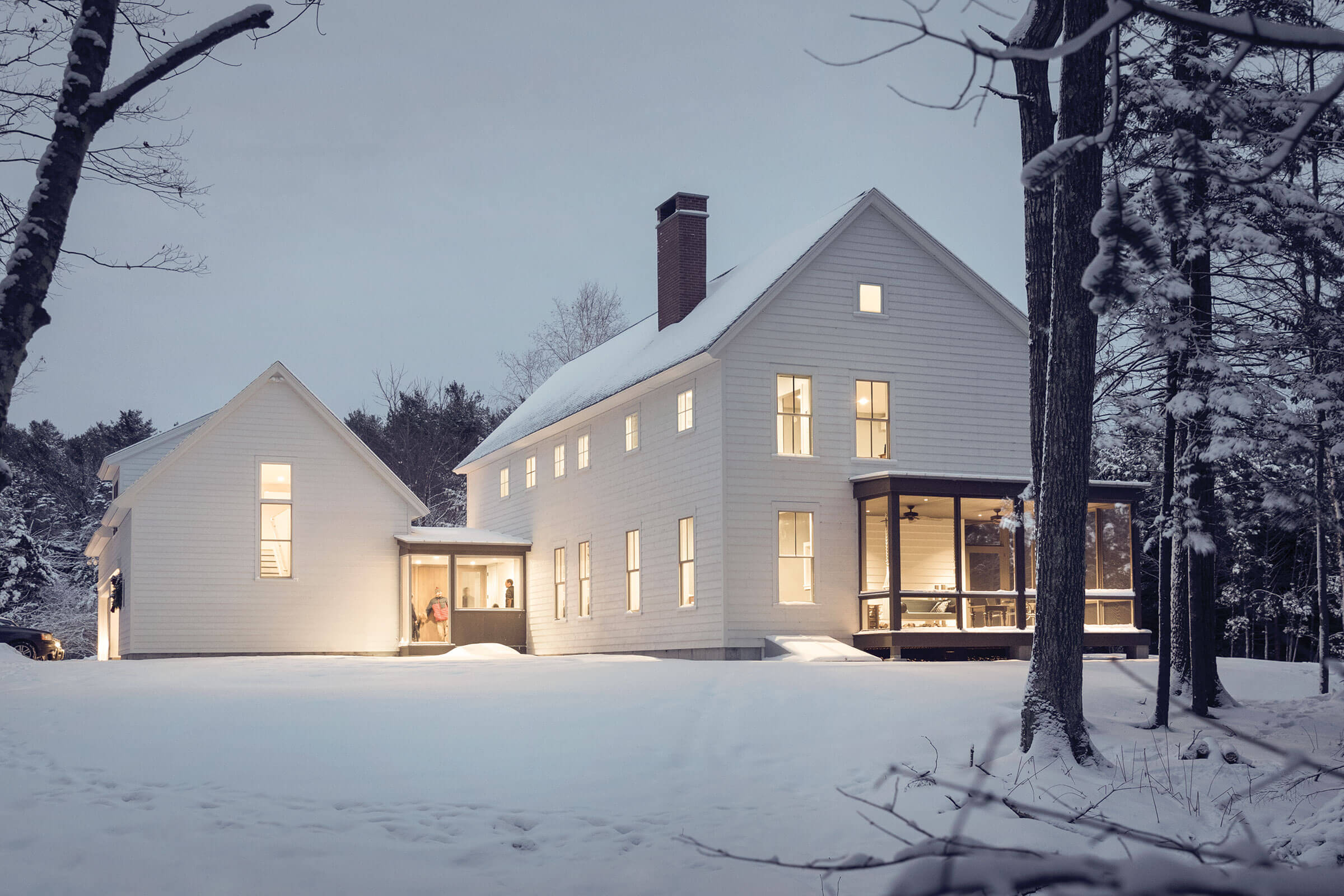 Snowy Exterior View Of Home with Marvin Elevate Windows and Doors